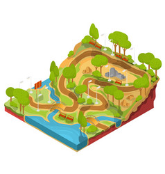 3d isometric of cross section vector image