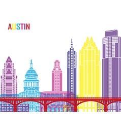 Austin skyline pop vector image vector image