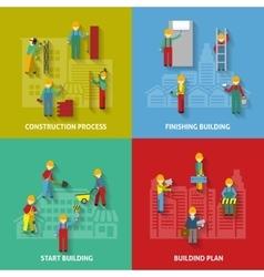 Building flat decorative icon set vector
