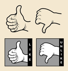 Hand signs 1 vector image vector image