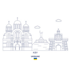 kiev city skyline vector image