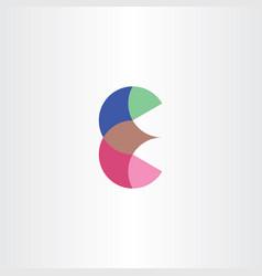 logo letter icon e symbol design vector image