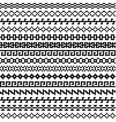 old greek border tribal vintage ethnic seamless vector image vector image