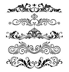 retro victorian elements collection for vector image vector image