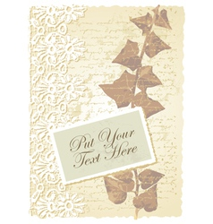 Vintage floral Ivy card vector image vector image