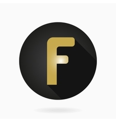 Fine Flat Icon With Letter F vector image vector image