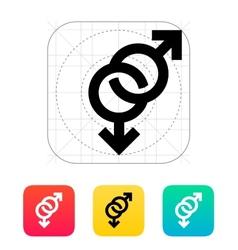 Gay icon vector image vector image