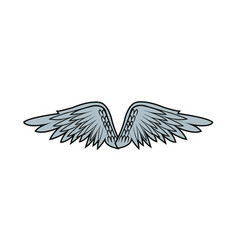 Graffiti angel wings feathers doodle style vector