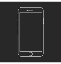 modern smartphone isolated on black vector image