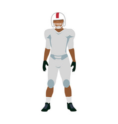 american football player in white black uniform vector image vector image