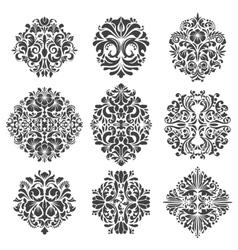 Baroque elements vector image vector image