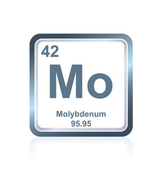 Chemical element molybdenum from periodic table vector