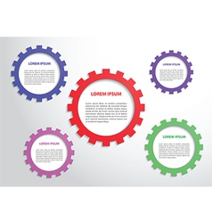 Color gears infographics background vector image vector image