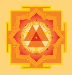 Sacred Geometry Durga yantra vector image vector image