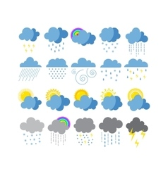 Weather icons set collection vector image vector image