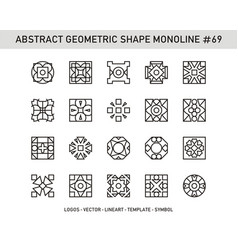 Abstract geometric shape monoline 69 vector