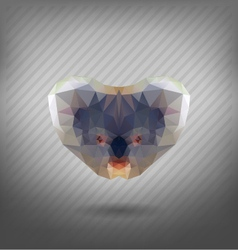 Abstract triangle polygonal koala abstract vector