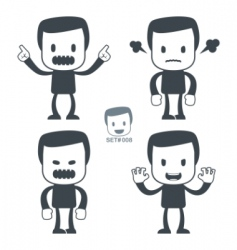 Angry man icon vector
