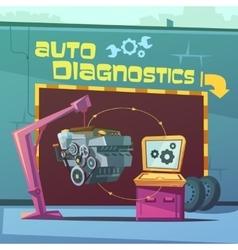 Auto Diagnostics vector image