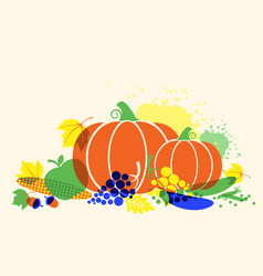 Autumn harvest festival thanksgiving background vector
