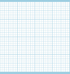 blue inch graph paper seamless pattern vector image