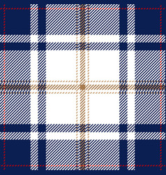 blue tartan plaid seamless pattern vector image
