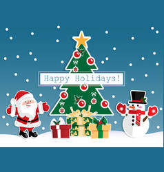 christmas cartoon vector image