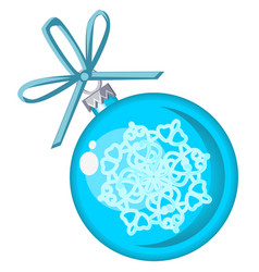 christmas toy in form a blue ball vector image