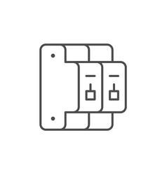 Circuit breaker line outline icon vector