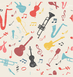 Colorful music seamless pattern vector