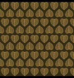 Creative valentines golden leaf pattern background vector
