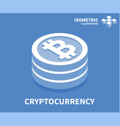 cryptocurrency icon isometric template vector image