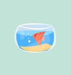 cute fish in aquarium flat vector image