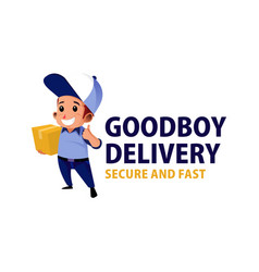 delivery courier boy mascot character logo icon vector image