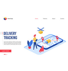 Delivery tracking service vector