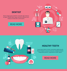 Dentistry horizontal banners vector