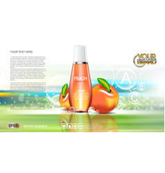 digital red and orange shower gel vector image