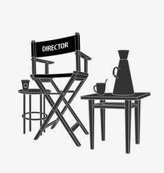director workplace vector image