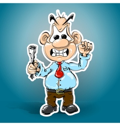evil head of waving hands vector image
