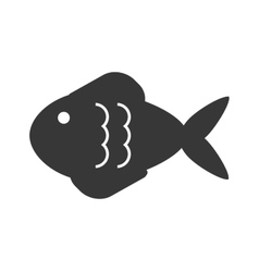 fish pictogram icon vector image