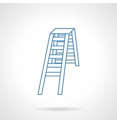 Folding ladder flat blue line icon vector image