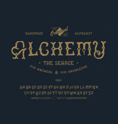 Font alchemy craft retro vintage typeface design vector