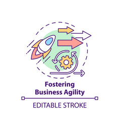 Fostering business agility concept icon vector