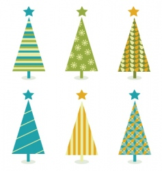 funky retro christmas tree design vector image