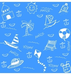 Funny doodle art for summer vector