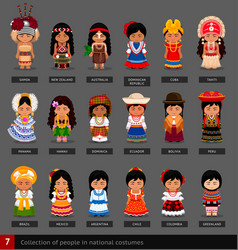 Girls in national costumes vector
