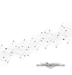global network connection network and big data vector image vector image
