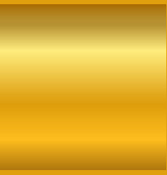 Gold gradient smooth texture empty golden metal vector