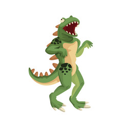 Halloween character dinosaur costume monster theme vector