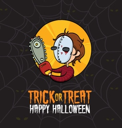 Halloween Trick or Treat Killer Costume vector image